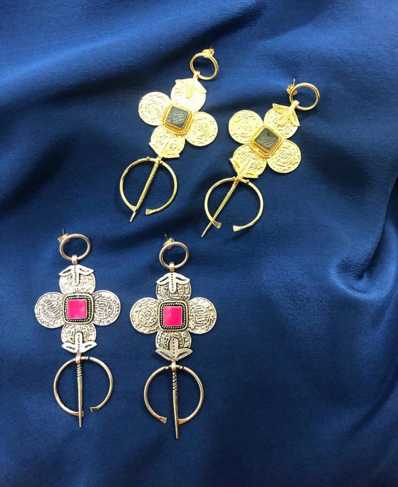 Rabia statement earrings