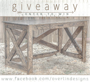 Carolina Farmhouse Desk Giveaway Contest hosted by Overlin Designs in Charlotte, NC