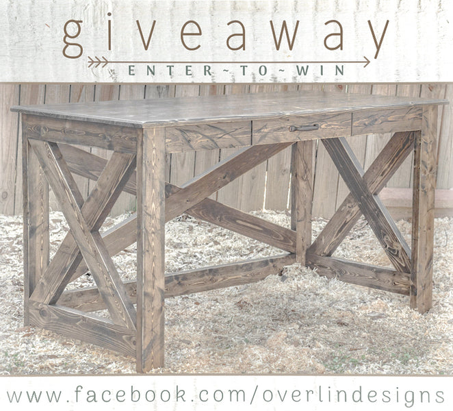 FARMHOUSE DESK GIVEAWAY | ENTER TO WIN | ENDS 06/24/18