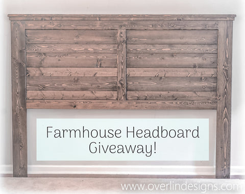 Farmhouse Headboard Giveaway Contest | Espresso King Headboard | Handmade by Overlin Designs | Charlotte, NC