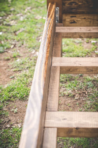 Farmhouse Bed Wooden Slats | Overlin Designs | Charlotte, NC