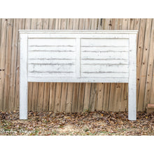 White-Distressed King Farmhouse Headboard | Made by Overlin Designs