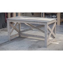 Rustic X-Style Farmhouse Desk