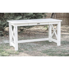 White Distressed Farmhouse Desk