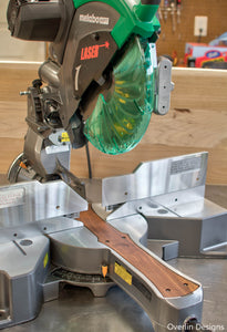 "Black Walnut Zero Clearance Insert for Metabo 12"" Sliding Miter Saw"