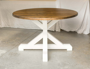 Round Pedestal Farmhouse Table