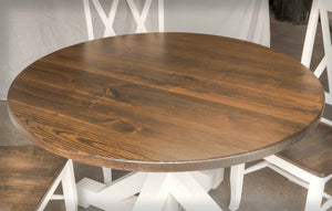 Round Farmhouse Table Top