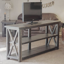 Ebony Farmhouse Console Table - Handcrafted by Overlin Designs in Charlotte, NC