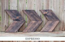 espresso brown farmhouse chevron arrows - handcrafted wall decor - handmade by overlin designs