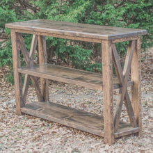 espresso brown farmhouse entryway table - console table - handcrafted in charlotte nc - solid wood - rustic console table - rustic entryway table - overlin designs