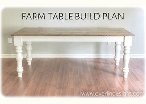 DIY Farm Table Build Plans