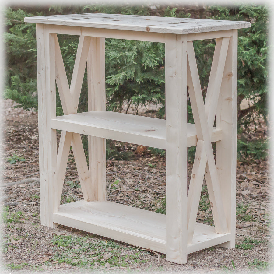 Unfinished diy farmhouse x style table legs build your own console tables