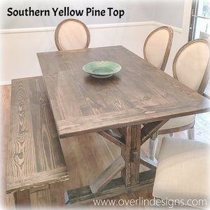 Country Farmhouse Dining Table