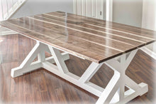 Glossy Walnut Trestle Table