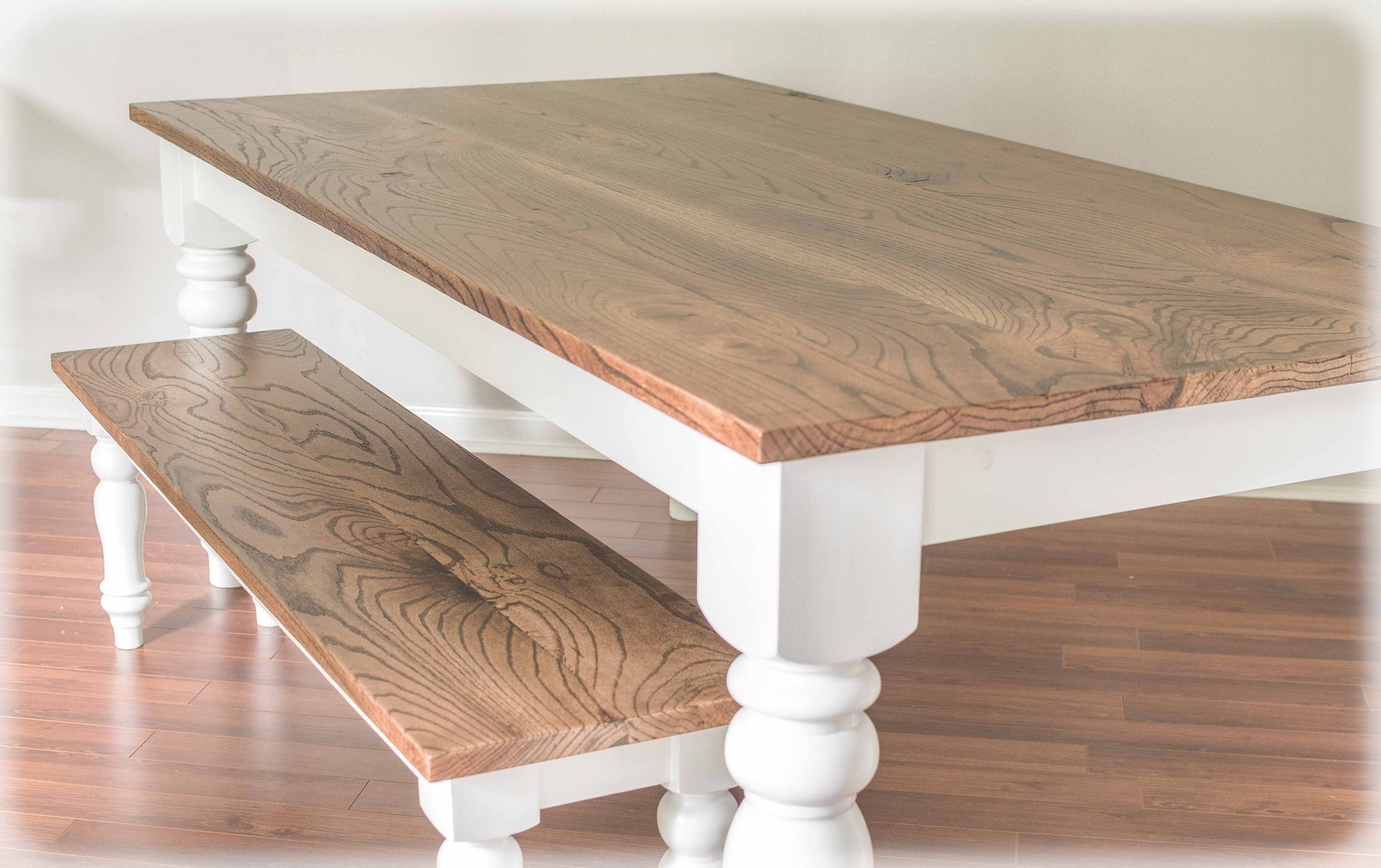 Peachy Country Dining Table W Matching Farm Bench Custom Order Gamerscity Chair Design For Home Gamerscityorg