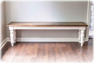 Red Oak Country Farmhouse Bench
