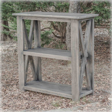 3ft long farmhouse entryway table - gray - handcrafted - rustic entryway table - charlotte nc - overlin designs