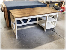 Farmhouse Desk with Shelves