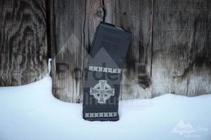 Celtic Cross Engraved PMAG from Border Pine Industries