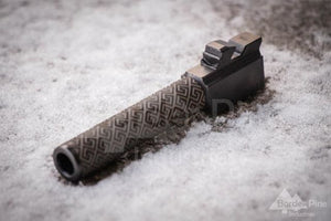 Custom Glock Spartan Barrel Engraving