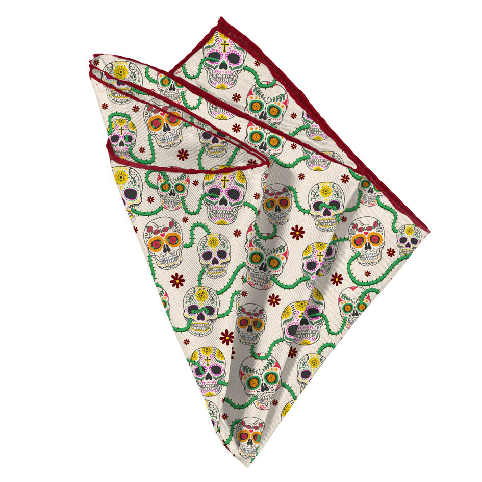 Day of the Dead Pocket Square - Mr. Pocket Rocket