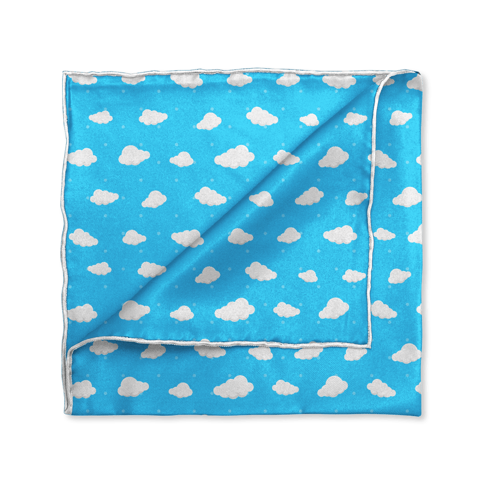 On Cloud Nine Pocket Square