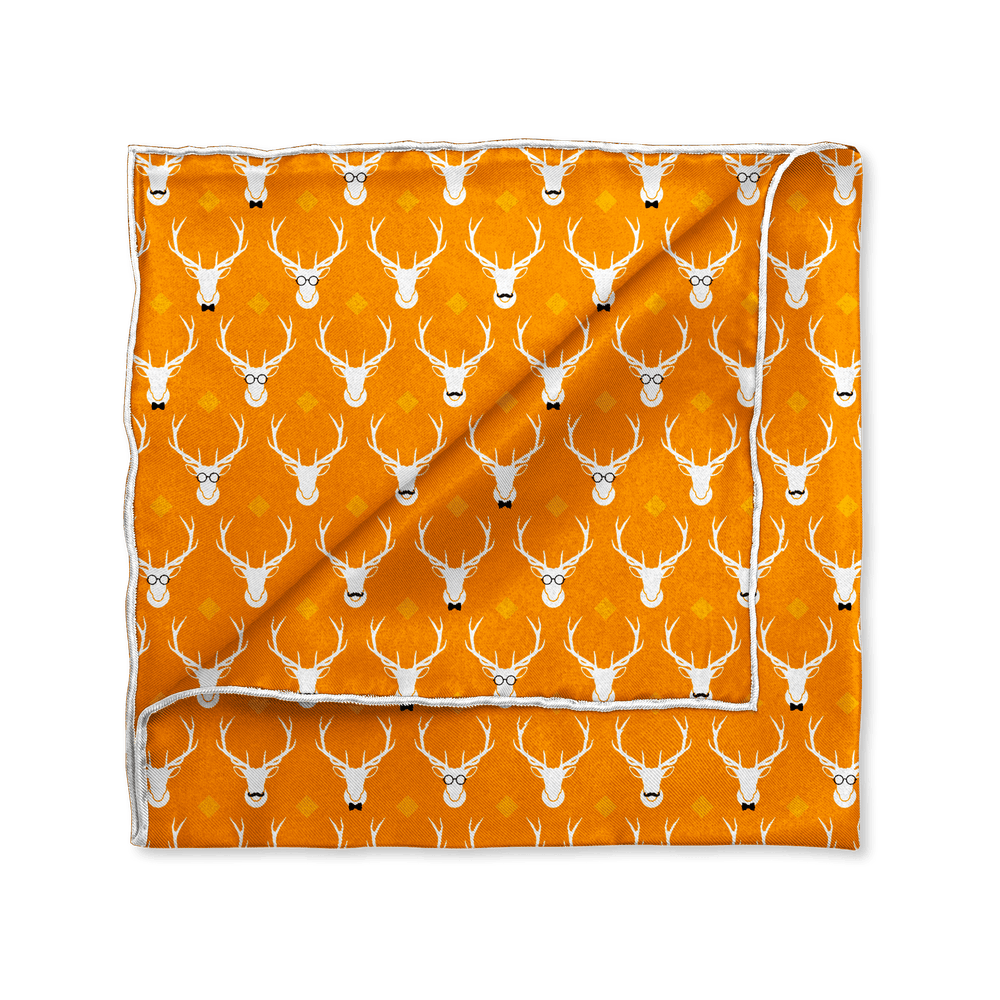 Hipster Elk Pocket Square