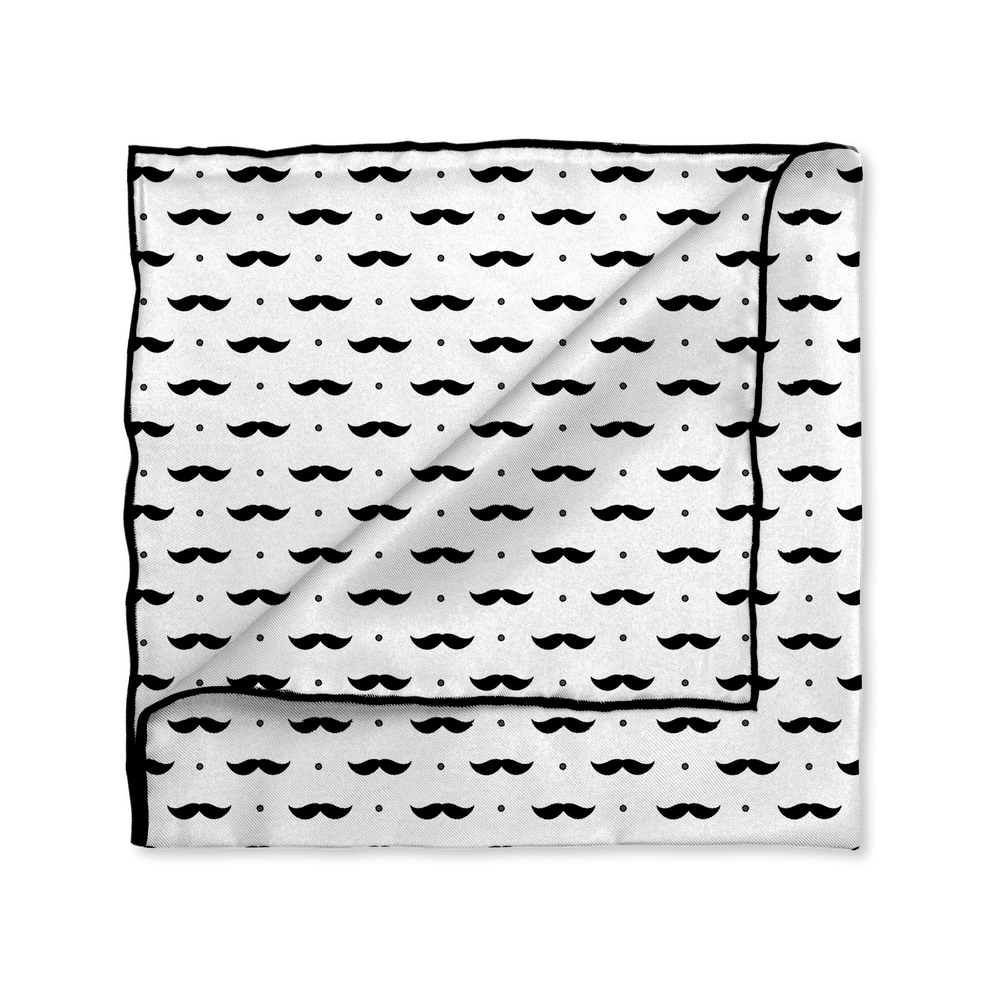 Mr. Moustache Man Pocket Square