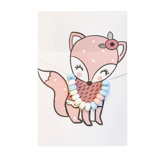Pink Fox Candy Necklace