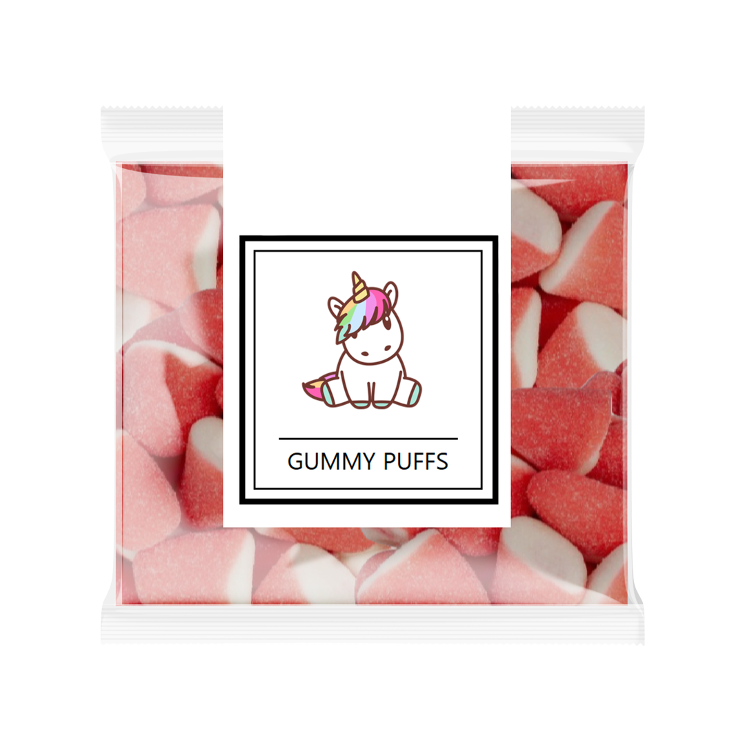 Gummy Strawberry Puffs
