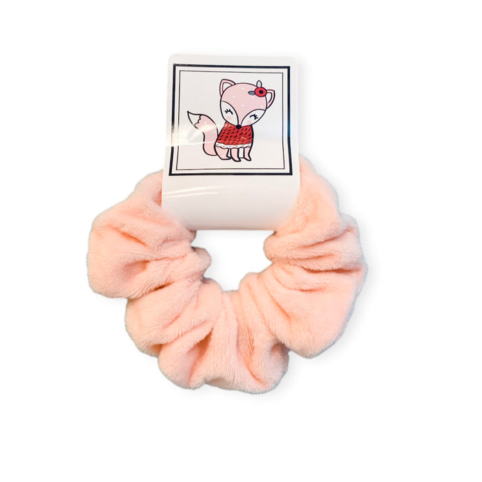 Pink Fox Hair Scrunchie