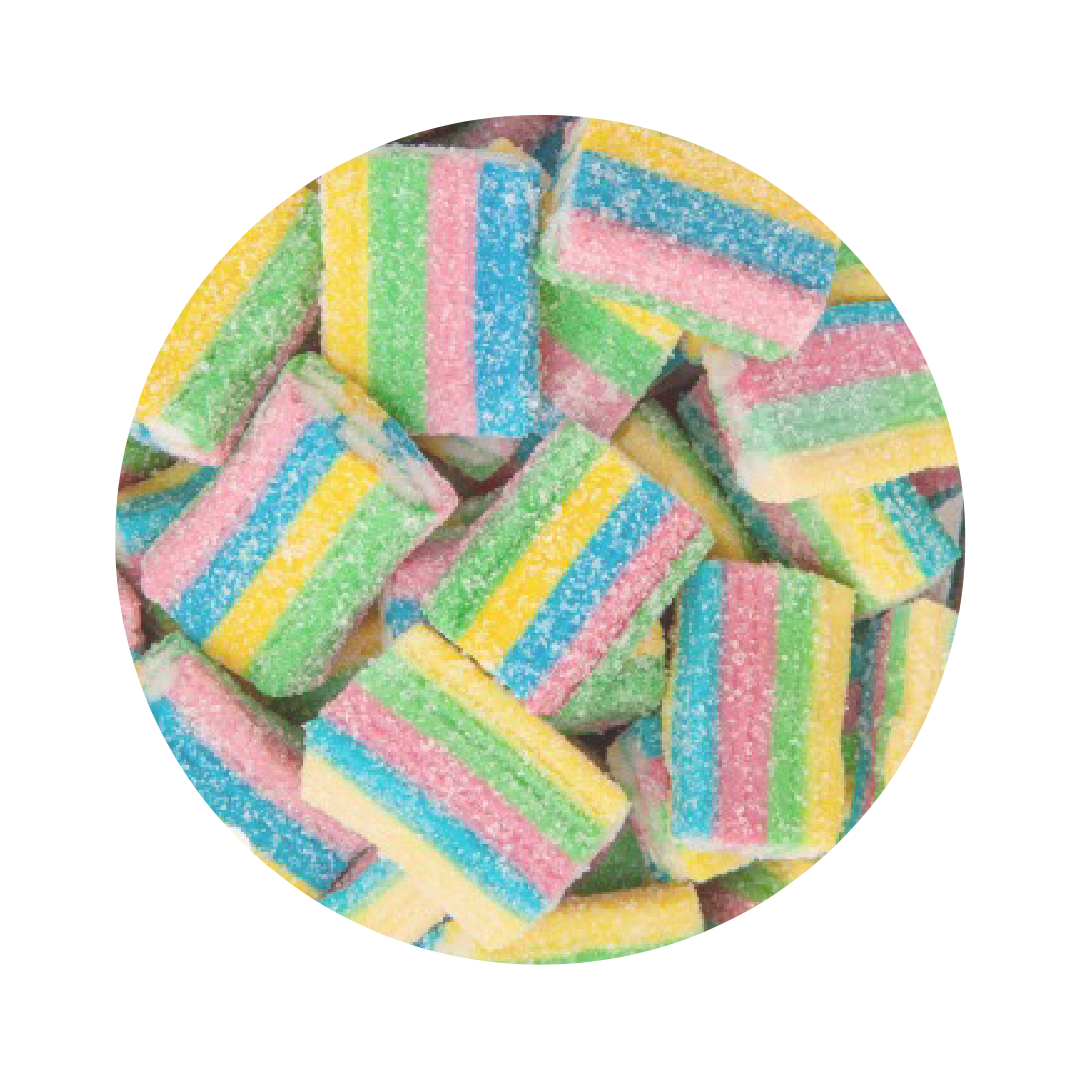 Sour Rainbow Bricks