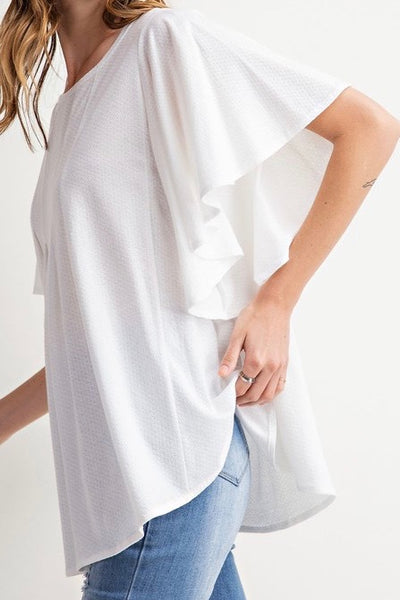 Flyaway Swing Top in Off-White