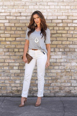 Missy Fit Boyfriend Jeans in White