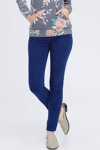 Cotton Blend Denim Jeggings