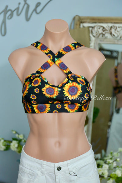 Convertible Bra or Bikini Top in Sunflower