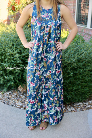 Floral Print Jumpsuit with Wide Legs