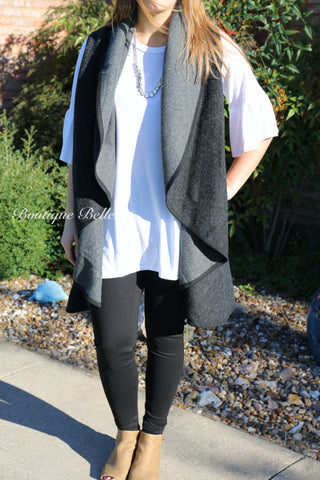 BB Black and Grey Reversible Vest