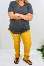 Missy Fit Boyfriend Jeans in Mustard