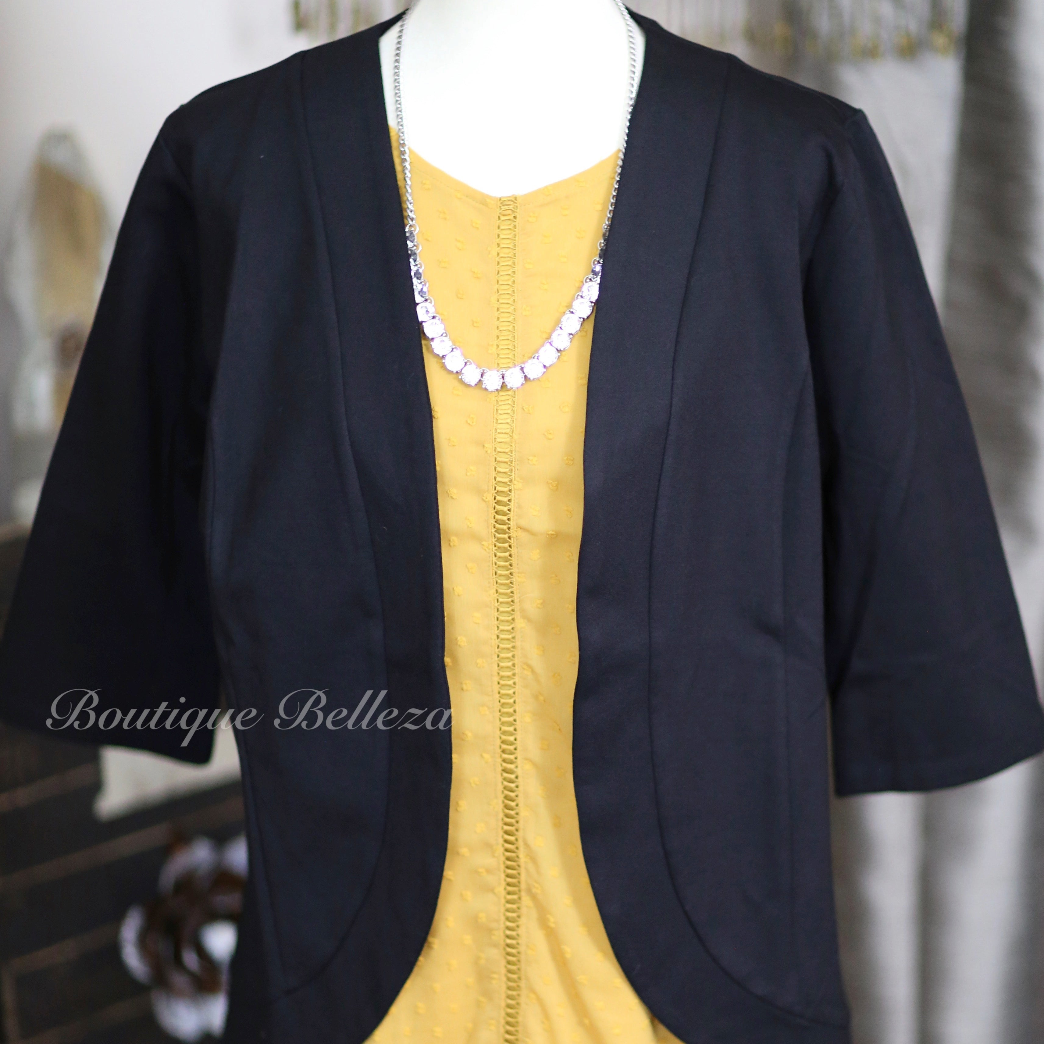 Princess Seam Blazer in Black