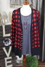 Buffalo Print High-End Snap Cardigan