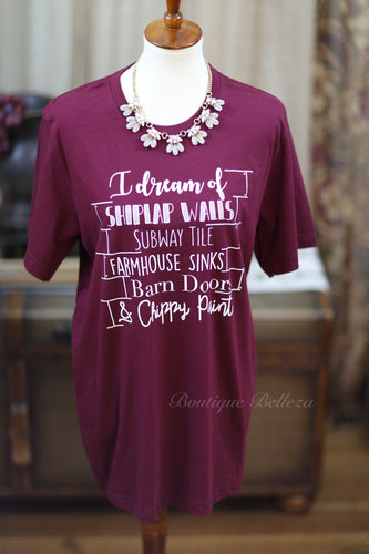 I Dream Of Shiplap Graphic Tee