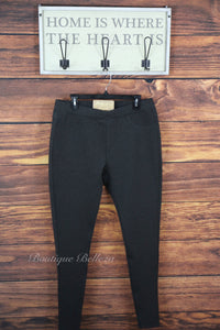 Ponte Colored Skinnies in Charcoal