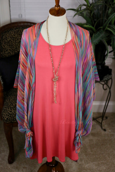 Colorful Beachy Kimonos *Coral Rain