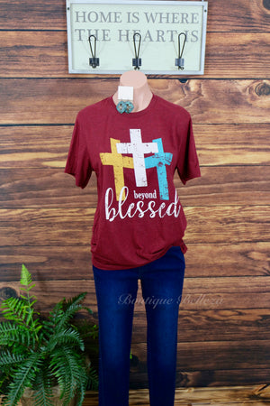 Beyond Blessed Three Cross Graphic Tee