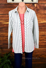 Sage Gingham Button Down