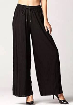 Black Pleated Palazzo Pants