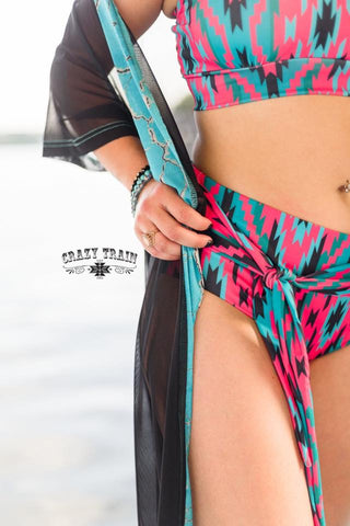 Crazy Train Southwest Aztec Swim Bottoms