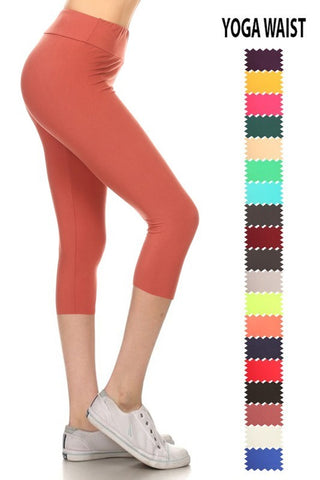 Buttery Soft Capri Leggings: Regular and Plus