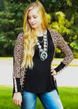 Leopard Print High-End Snap Cardigan